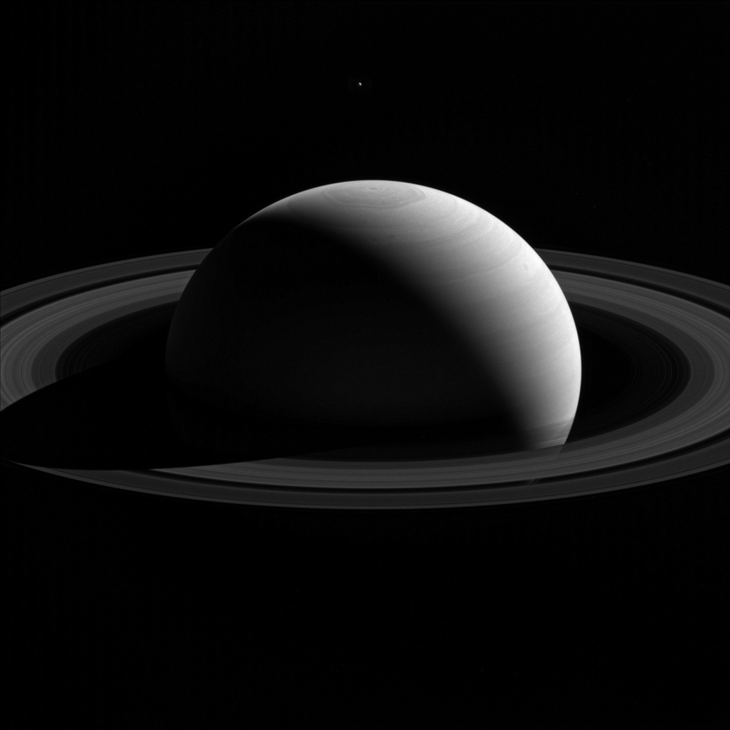 Taken 26 january 2015. New calculations show the gas giant's pushing its moons away.