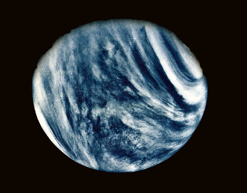This close-up photo of Venus was taken on 5 February 1974.