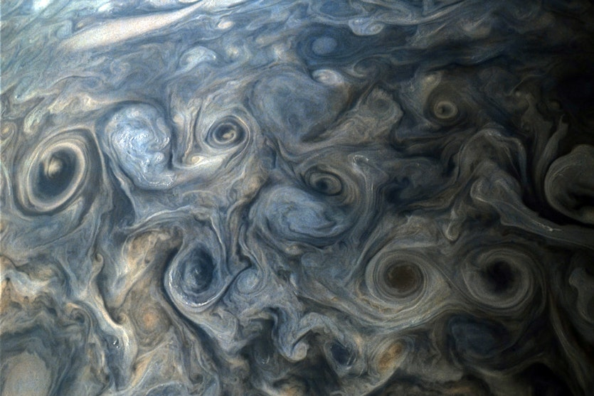 Turbulent clouds of the middle latitudes.