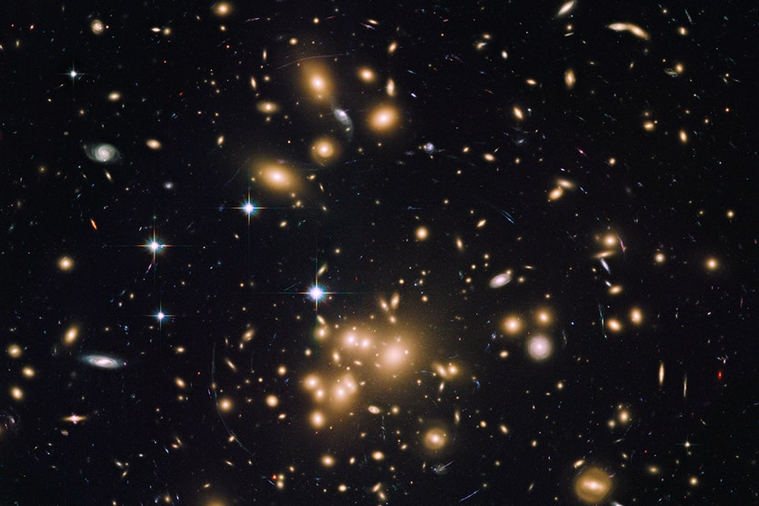 Galaxy cluster abell 1689.
