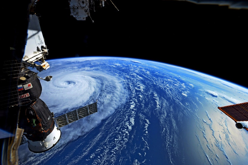 Super Typhoon Noru, photographed on 1 August 2017 from the International Space Station.