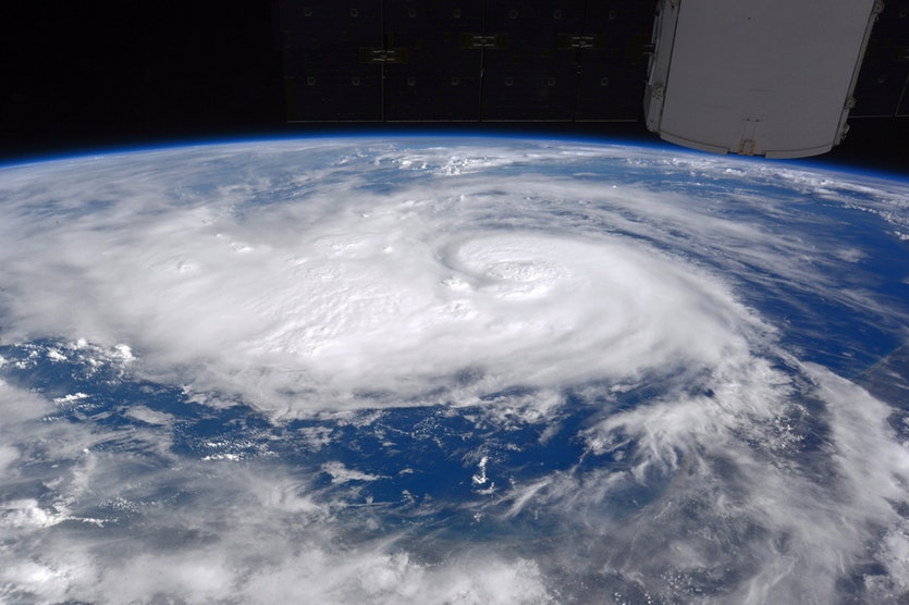 Hurricane Harvey seen from the ISS.