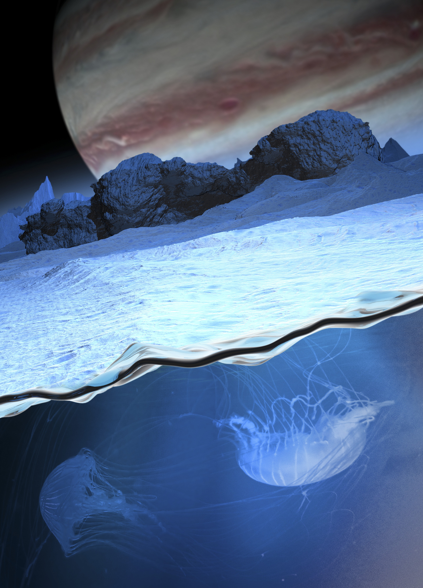 Life may be abundant and unseen on planets with subsurface oceans, according to NASA's Pluto chief.