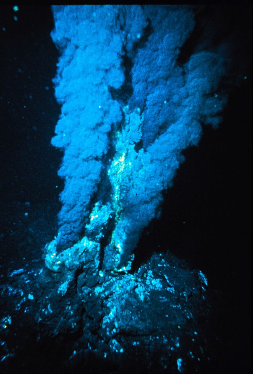 A hydrothermal vent: could bleach be the critical element in the story of life?