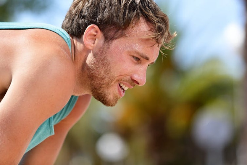 Heatstroke can be caused by exertion, such as with athletes putting their body through stress in extreme temperatures.