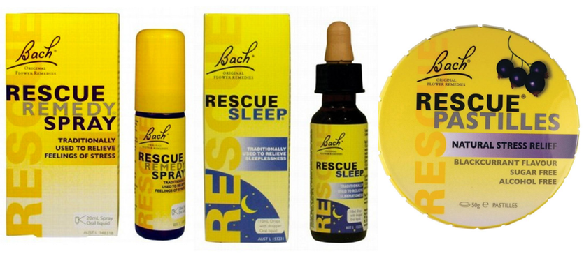 Rescue remedies are marketed as stress relief.