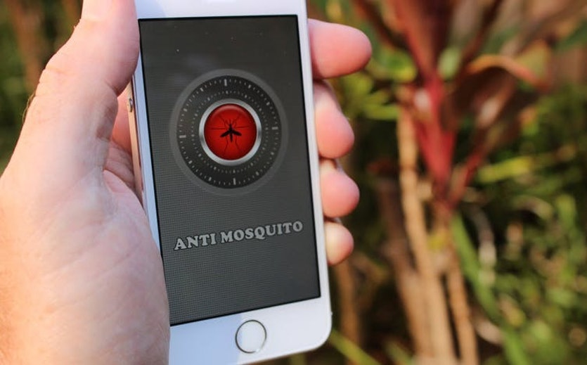 There are dozens of apps available for your smartphone but there is little evidence they provide any genuine protection from biting mosquitoes.