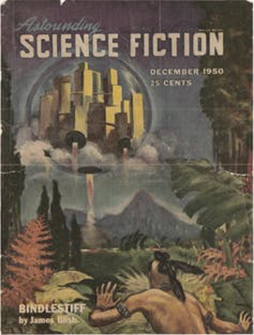 Astounding Science Fiction, December 1950: Impractical SF - Cities in Flight.