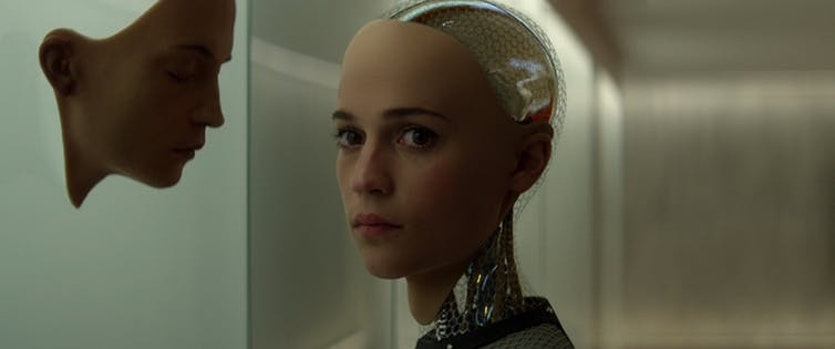 The face of indifference: Eva from Ex Machina.