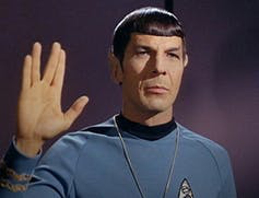 Star Trek's Mr Spock was devoted to logic in place of emotion.