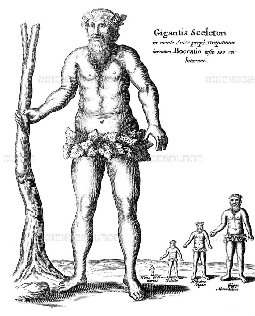 By the year 1664 when Athanasius Kircher published Mundus Subterraneus, giants were already an accepted feature of history.