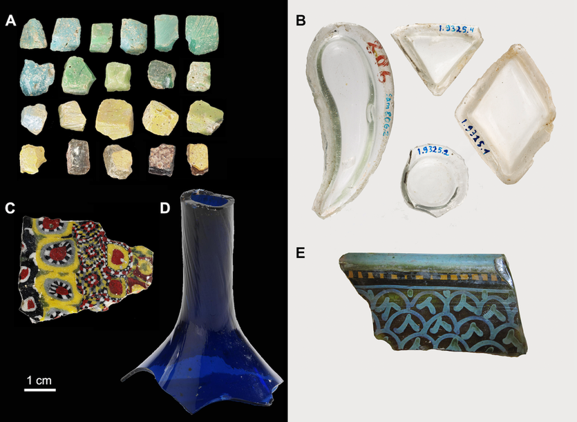 Glassware from the ancient Muslim city of Samarra.