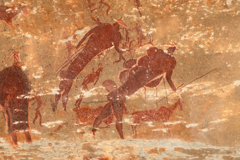 The rock art of the San people in South Africa enshrines stories that have been told for thousands of years.