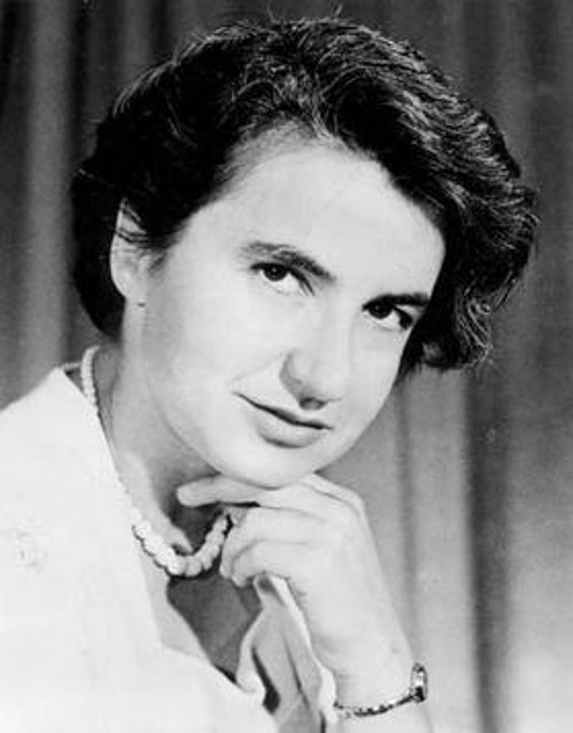 Rosalind Franklin, the physicist who helped reveal DNA's double helix structure using X-ray crystallography. Contemporaneously, James Watson and Francis Crick were coming to a similar conclusion but didn't have the hard data to support their claim. Unbeknownst to Franklin, Watson and Crick got access to Franklin's data, allowing them to complete their model of DNA. Later the duo, along with Franklin's male collaborator Maurice Wilkins, went on to win the 1962 Nobel Prize in physiology or medicine.