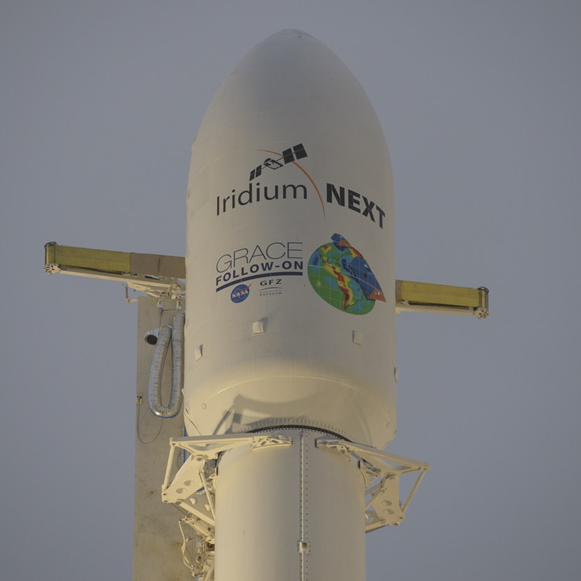 The SpaceX Falcon 9 rocket: in many ways, a direct descendent of technology portrayed in Kubrick's film.