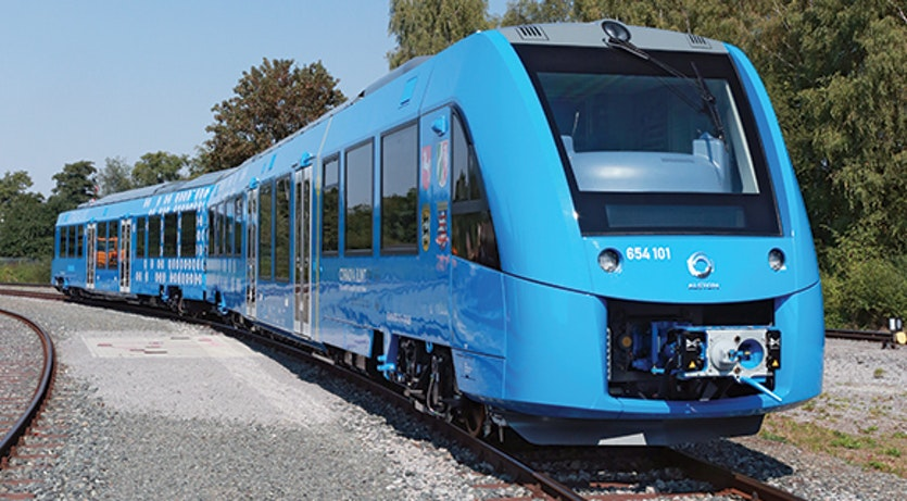The Coradia iLint began providing hydrogen-fuelled mass transit in Germany in 2018.