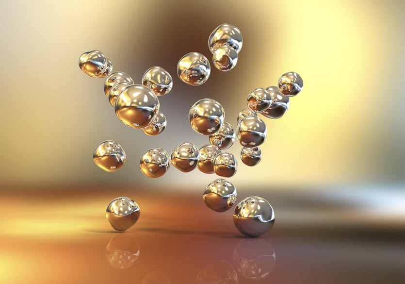 Gold particles are often used in the lab to help detect biological molecules.