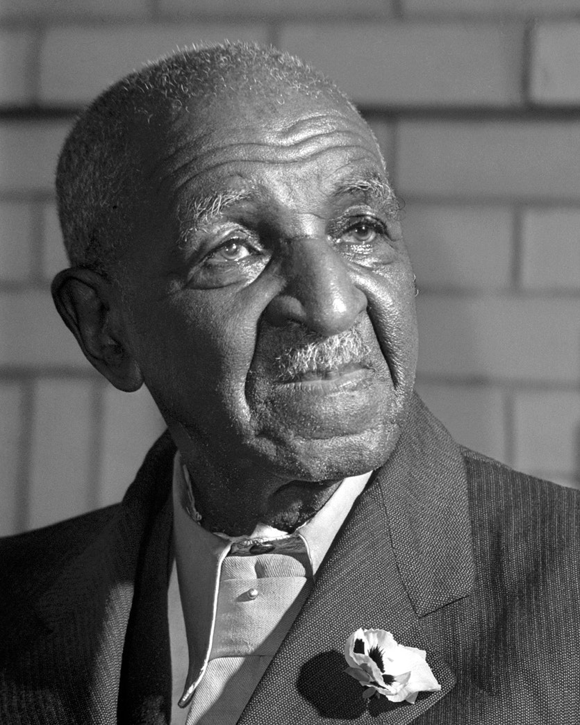 George Washington Carver, pictured late in life.