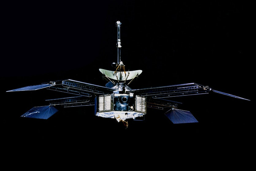 The Mariner 4 spacecraft.