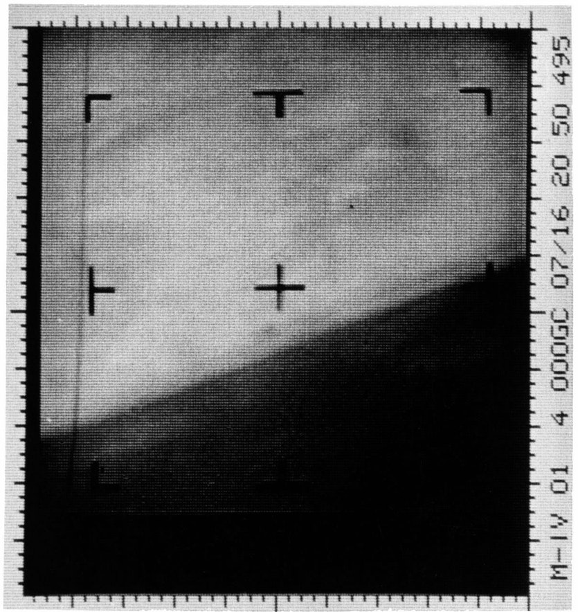 The first picture of Mars sent home by Mariner 4.