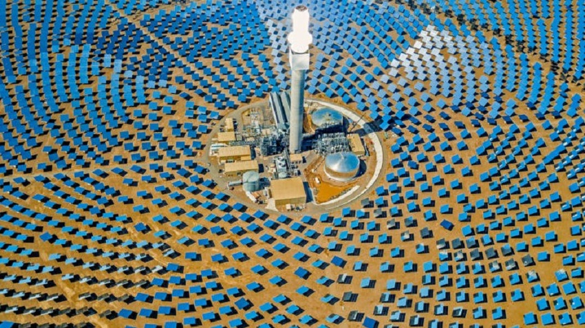 Solar farms like this one pictured are taking cues from nature.