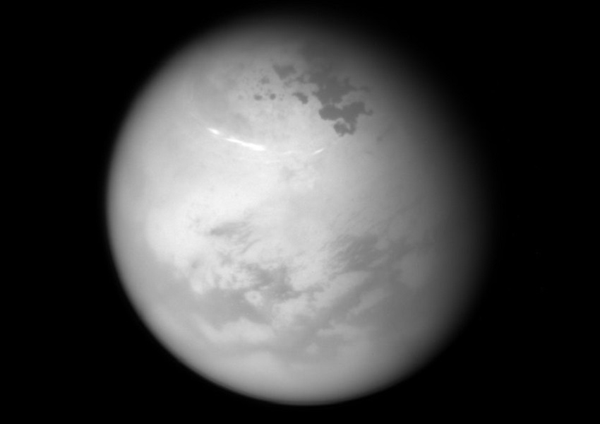 A view of Titan's northern hemisphere.