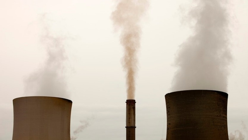 Flue gases from factories and power plants contain significant amounts of carbon dioxide.