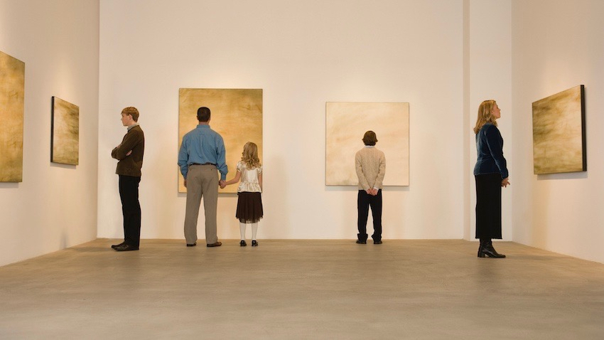 but wandering around a gallery could be just as good for your health