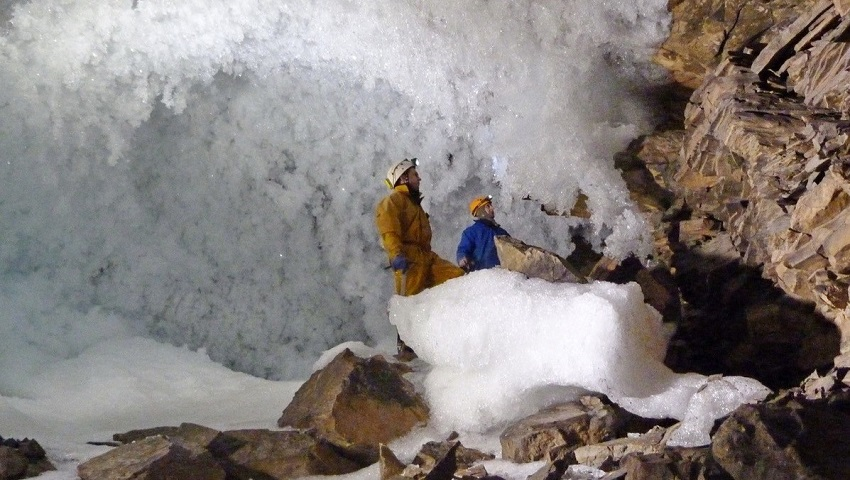 The new research involved challenging field work discovering and exploring Siberian caves.
