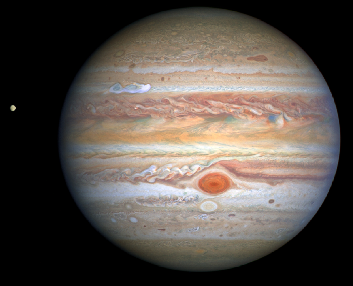 Jupiter's Stormy Events Captured by NASA's Hubble Space Telescope