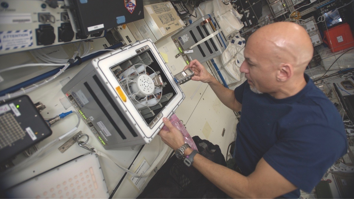 Mining with microbes in space