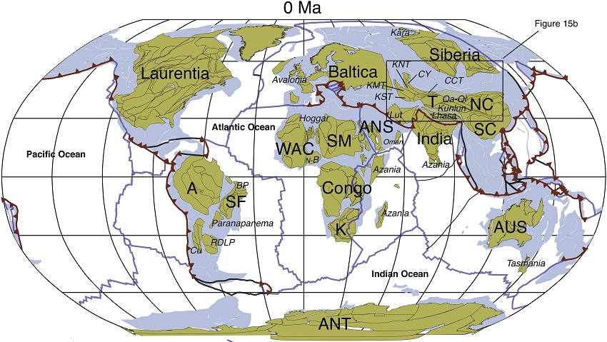 tectonic plate movement over history
