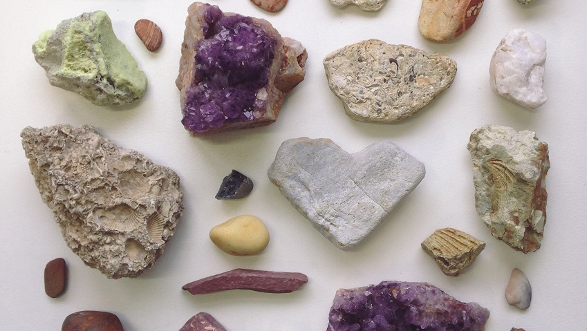 A collection of various rocks.