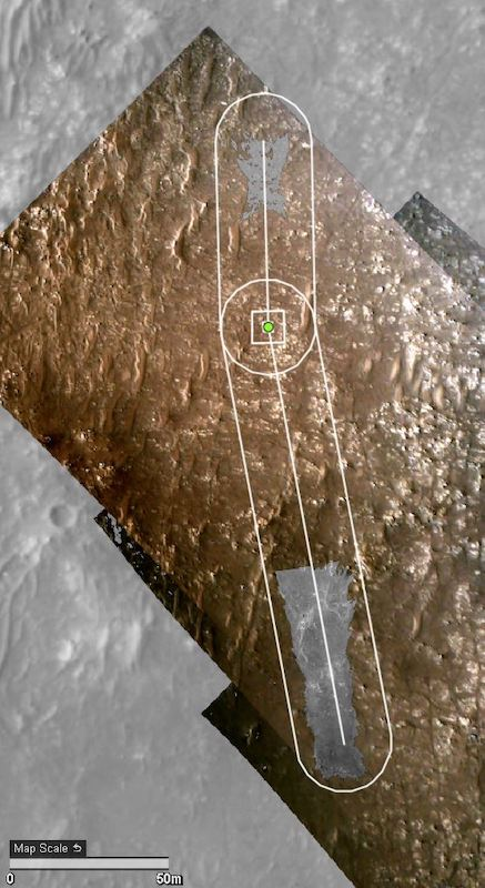 Mars helicopter flight path