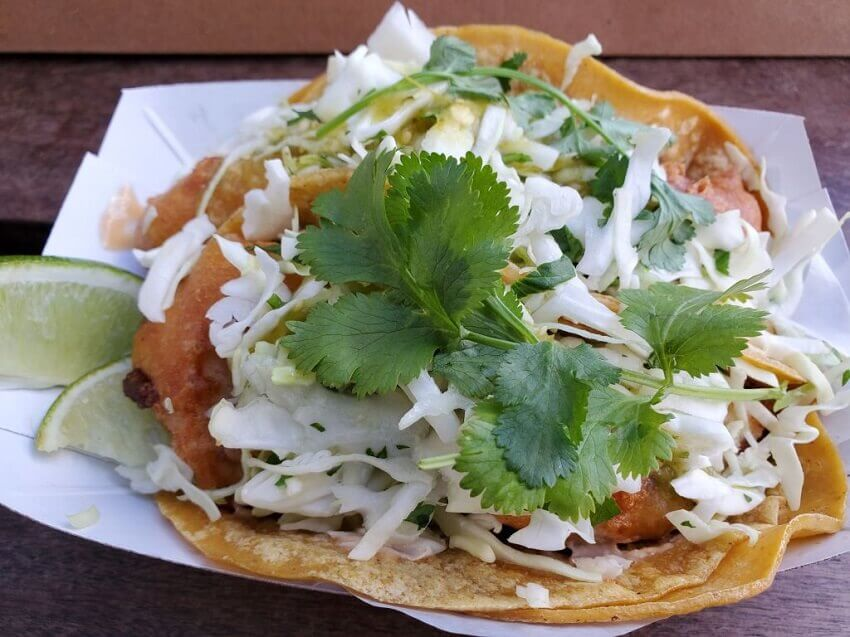 Taco with coriander, which supertasters are often highly sensitive to