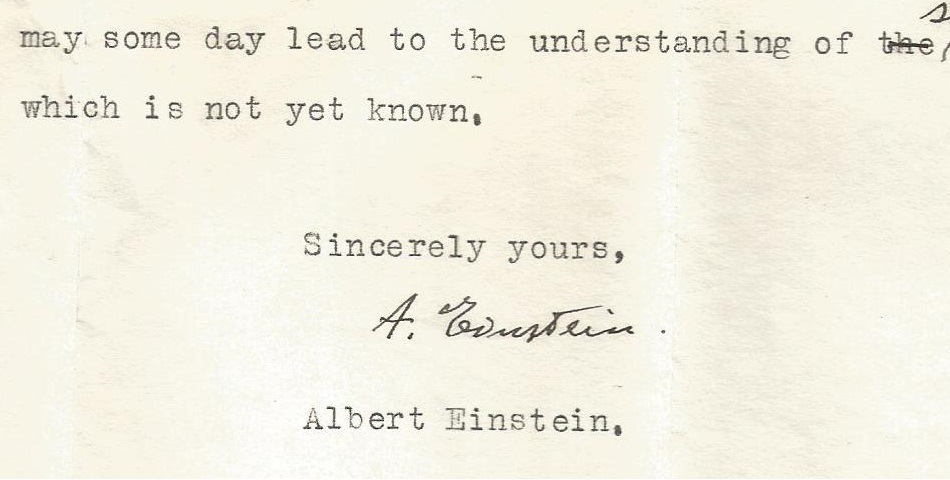 Birds and bees – sincerely, Albert Einstein.