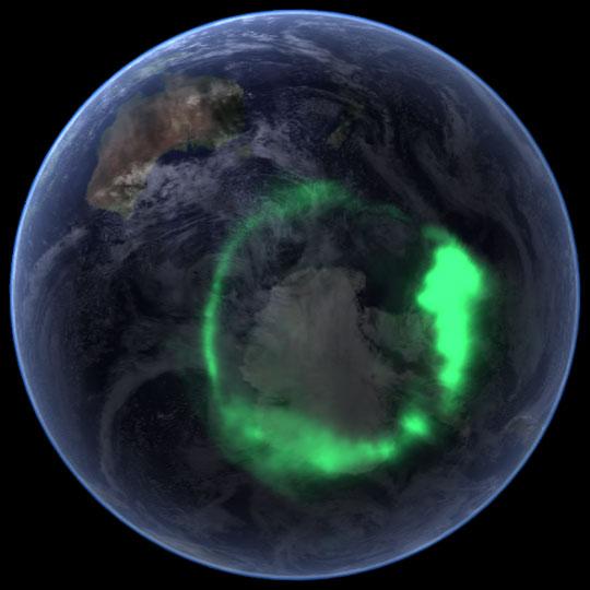 The Aurora Australis in September 2005
