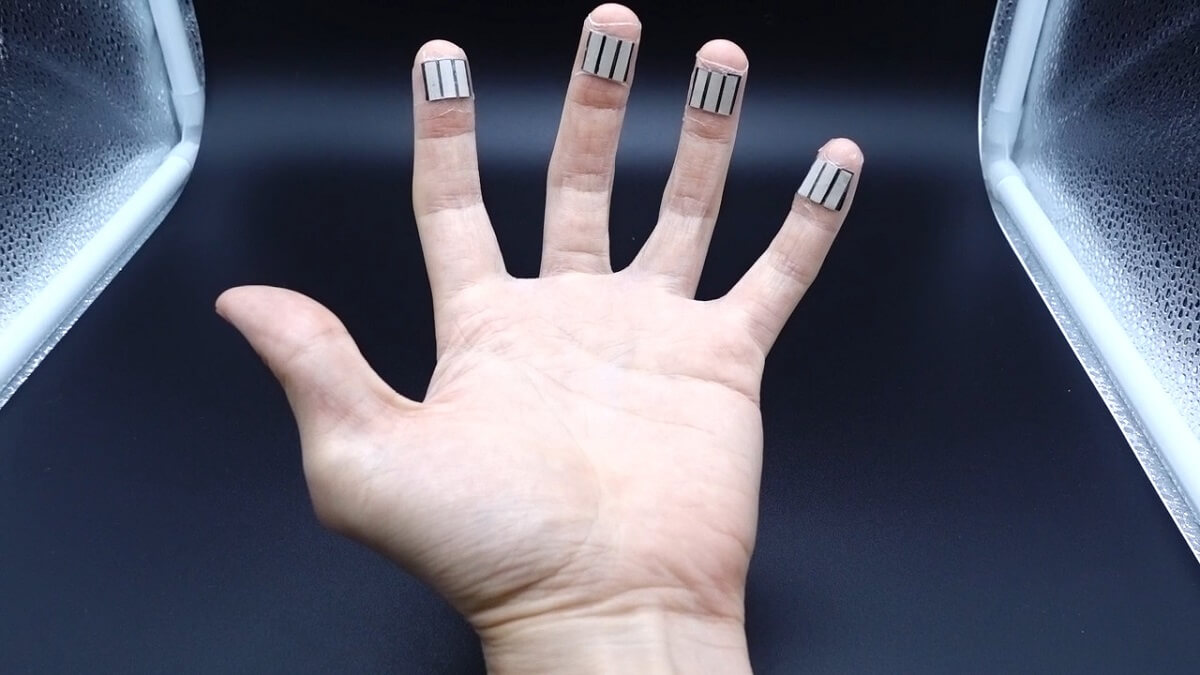 Electricity from sweaty fingertips?