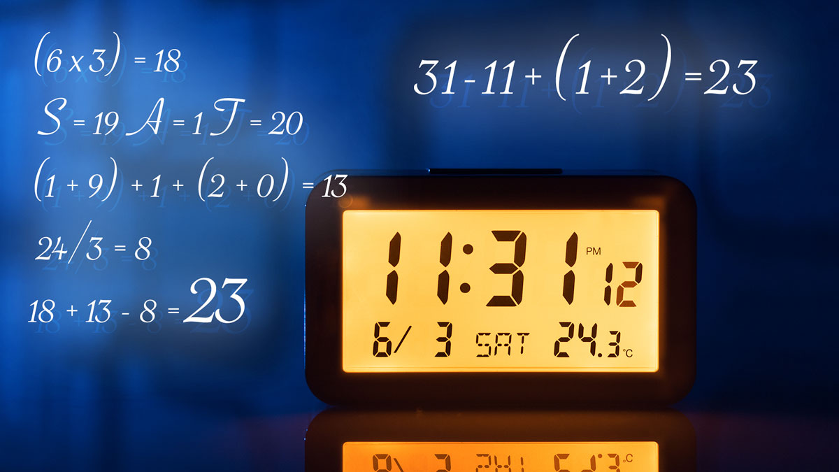 A mathematician watches the number 23